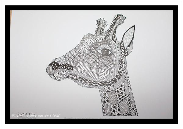 Zentangle-Giraffe