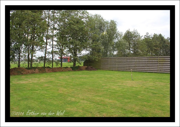 De tuin achter, ook die wordt nog wel aangepakt de komende jaren is het plan.
