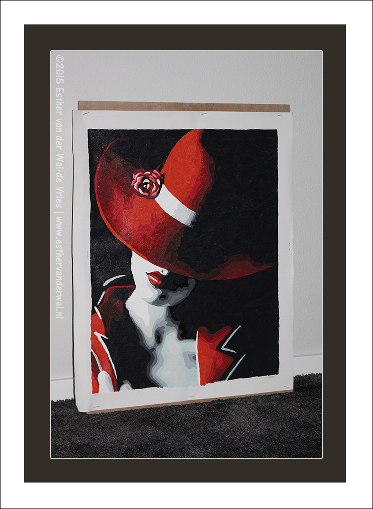 Schilderij vrouw met de rode hoed esther 39 s weblog - Schilderij ingang en gang ...