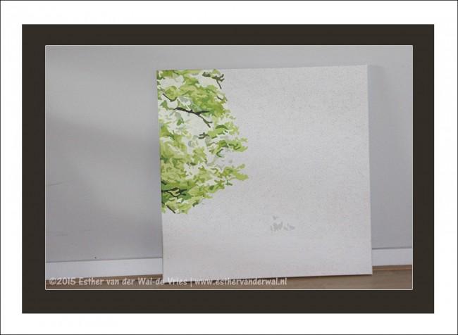 Drieluik Schilderij Bomen (6)