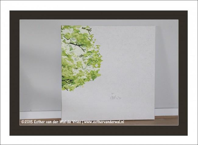 Drieluik Schilderij Bomen (7)