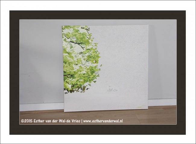 Drieluik Schilderij Bomen (8)