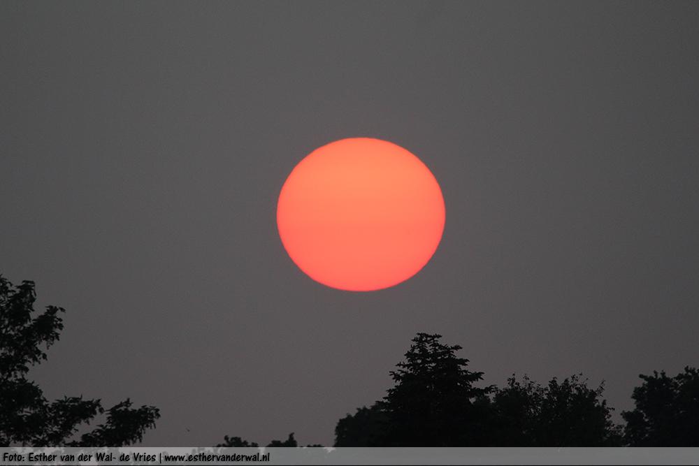 Adembenemende zonsondergang