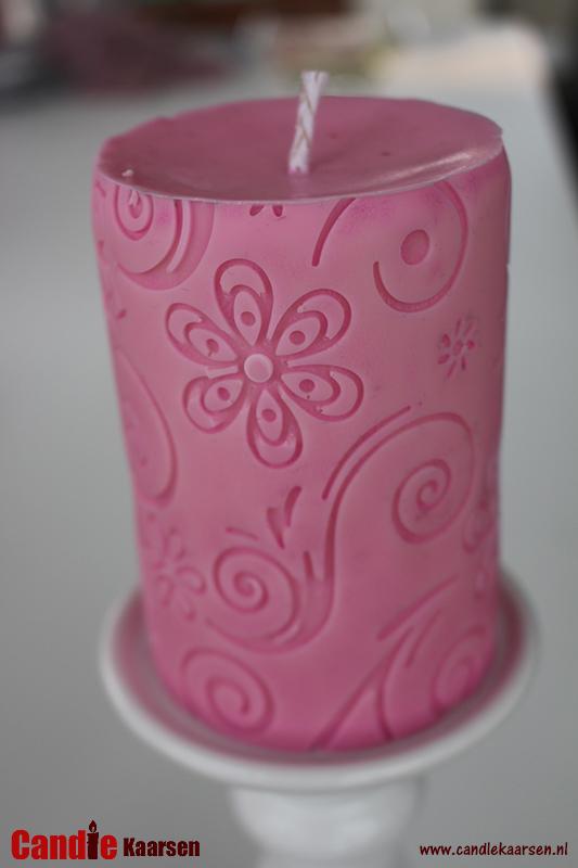 Reliefkaars-bloemmotief-baby-meisje-roze-01