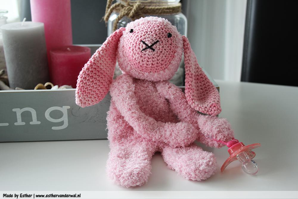 Speenknuffel – Roosje het konijn!